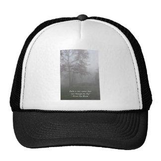 Faith sees through fog cap