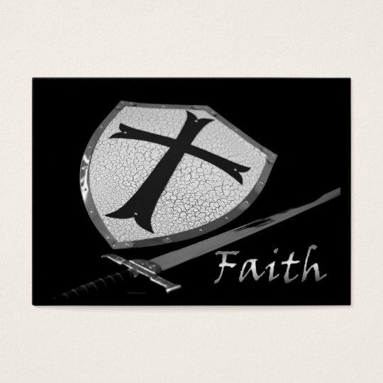 faith sword and shield  ACEO Business Card