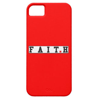faith text message emotion feeling red dot square iPhone 5 cases