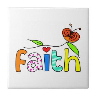 Faith Small Square Tile