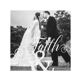 FAITH Typography Photo Overlay Canvas Print