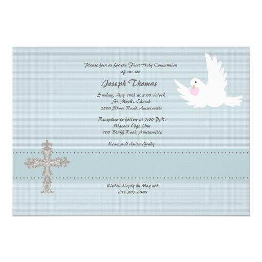 Faithful Dove Religious Invitation