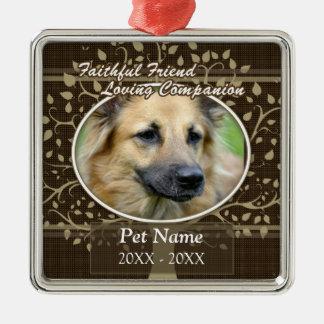 Faithful Friend Custom Pet Sympathy Christmas Ornament