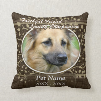 Faithful Friend Custom Pet Sympathy Cushion