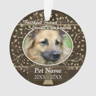 Faithful Friend Custom Pet Sympathy Ornament