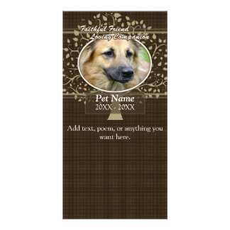Faithful Friend Custom Pet Sympathy Personalised Photo Card