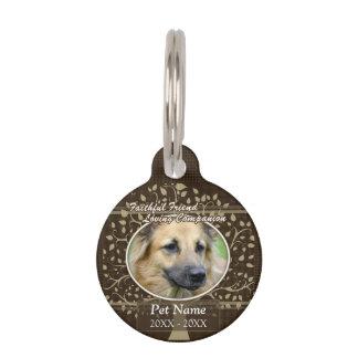 Faithful Friend Custom Pet Sympathy Pet Name Tag