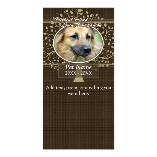 Faithful Friend Custom Pet Sympathy Photo Cards