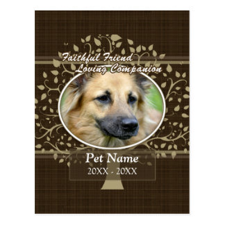 Faithful Friend Custom Pet Sympathy Postcard