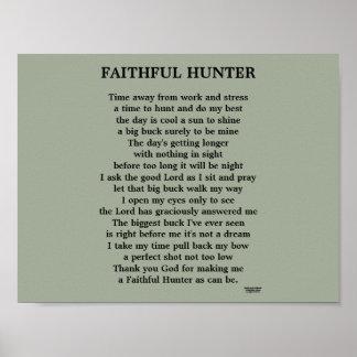 FAITHFUL HUNTER POEM POSTER