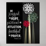 Faithful in prayer bible verse Romans 12:12 Poster
