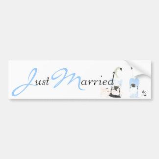 Faithfulness Just Married Bumper Sticker