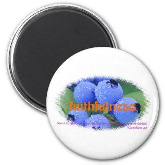 Faithfulness 6 Cm Round Magnet