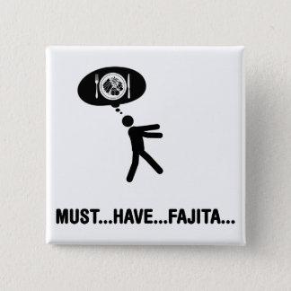 Fajita Lover 15 Cm Square Badge