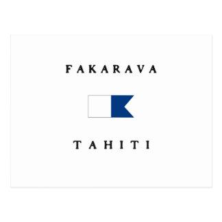 Fakarava Tahiti Alpha Dive Flag Postcard
