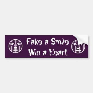 Fake a Smile Win a Heart Bumper Sticker