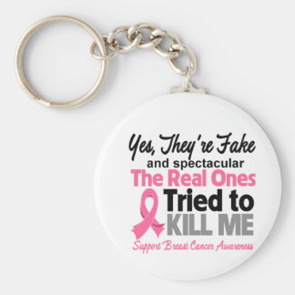 Fake and Spectacular - Breast Cancer Key Chains