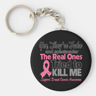 Fake and Spectacular - Breast Cancer Keychains