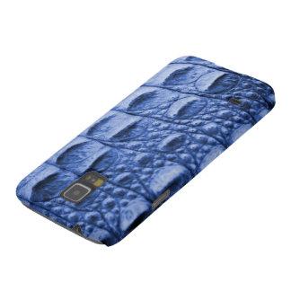 Fake blue croc skin galaxy s5 cover