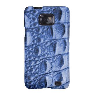 Fake blue croc skin galaxy SII case