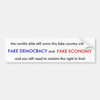 Fake Country Bumper Sticker