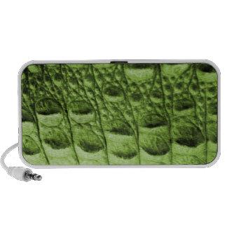 Fake crocodile skin notebook speakers