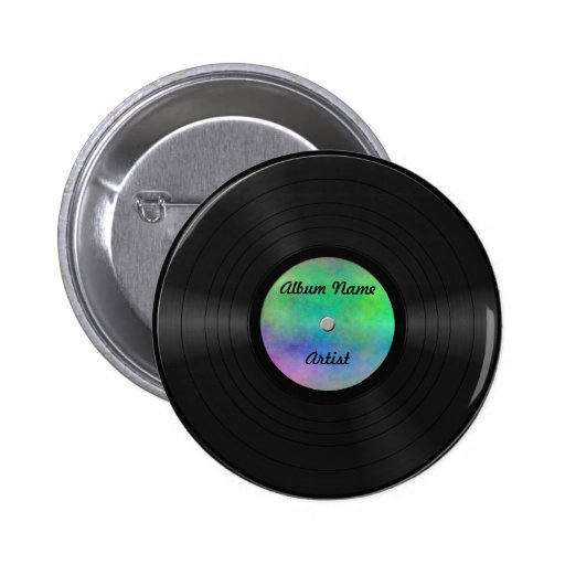 Fake Custom Vinyl Record Buttons