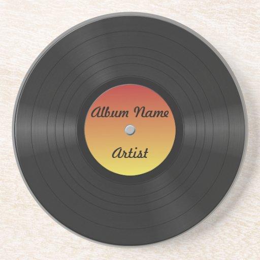 Fake Custom Vinyl Record Coaster