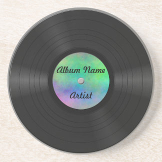 Fake Custom Vinyl Record Coaster