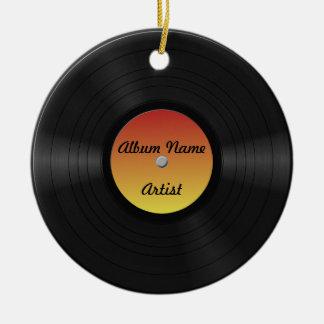 Fake Custom Vinyl Record Round Ceramic Decoration