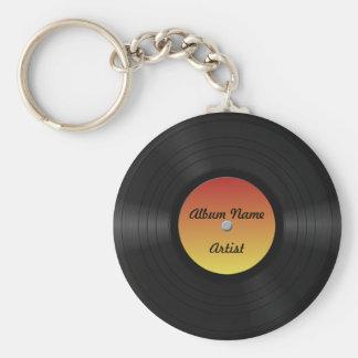 Fake Custom Vinyl Record Key Ring