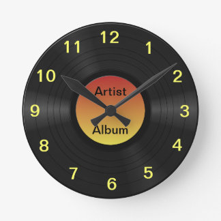 Fake Custom Vinyl Record Round Clock