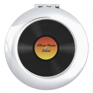 Fake Custom Vinyl Record Vanity Mirrors