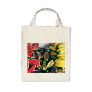 """""""Fake Fruit"""" Organic Grocery Tote Bag"""