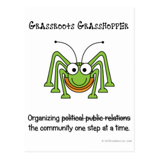 Fake grassroots campaigns postcards