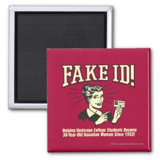 Fake ID: Underage College Hawaiian Magnet