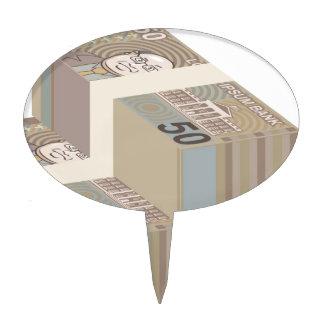 Fake money stacks cake toppers