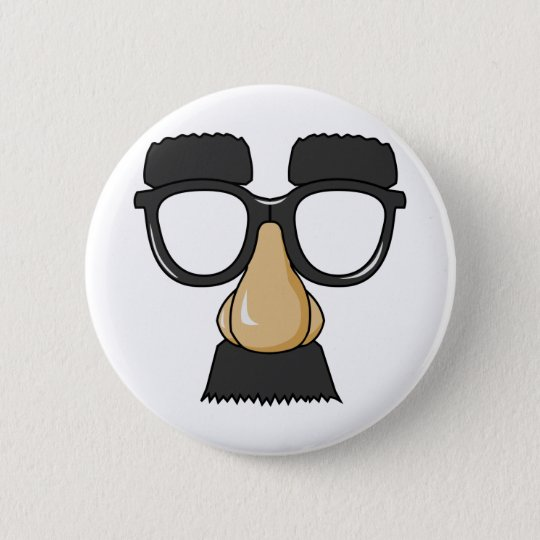 Fake Moustache Face 6 Cm Round Badge