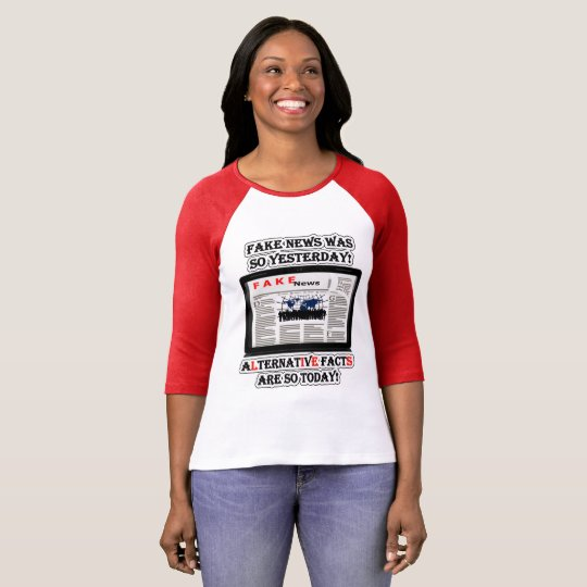 Fake News and Alternative Facts Raglan T-Shirt