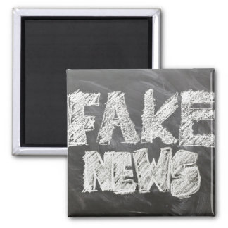 Fake News Chalkboard Look Magnet