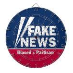 FAKE NEWS DARTBOARD WITH DARTS