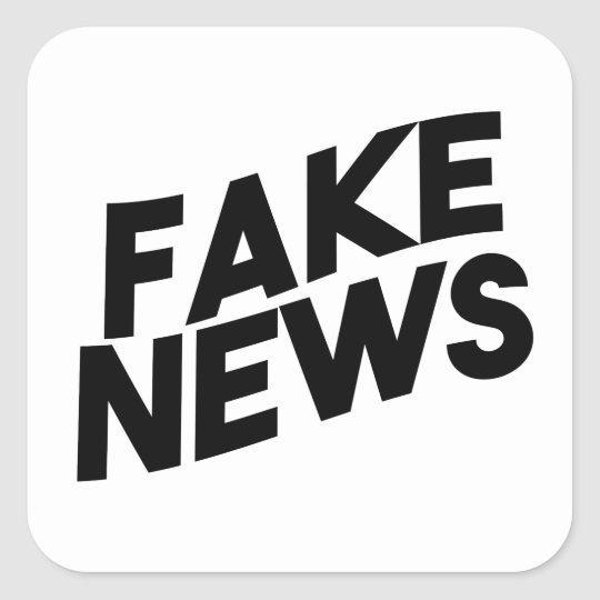 Fake News fashionable Post Truth Square Sticker