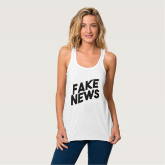 Fake News fashionable Post Truth Tank Top