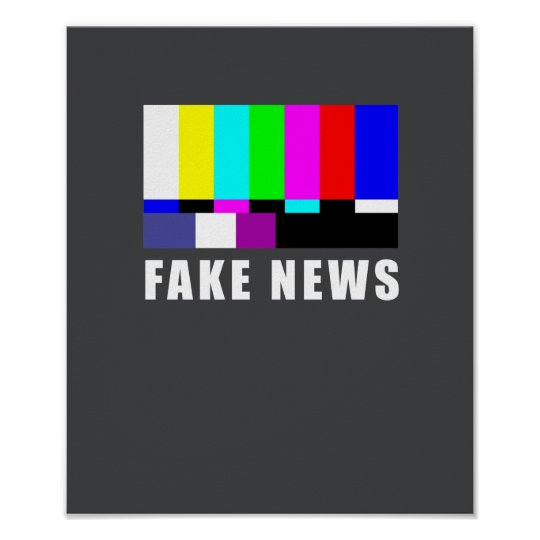 Fake news. Media, politics, television Poster