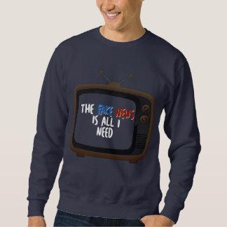 Fake News Political Protest Funny Men's Sweatshirt