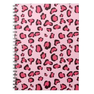 Fake Pink Leopard Print Notebooks
