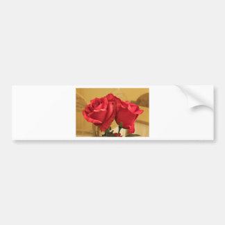 Fake plastic roses bumper stickers