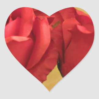 Fake plastic roses heart stickers