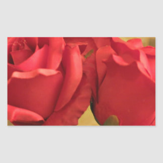 Fake plastic roses rectangle stickers