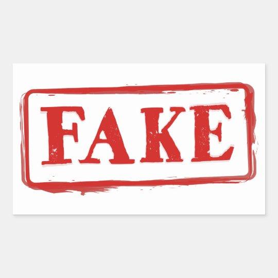 FAKE Stamp: Funny Graphic Sticker Label
